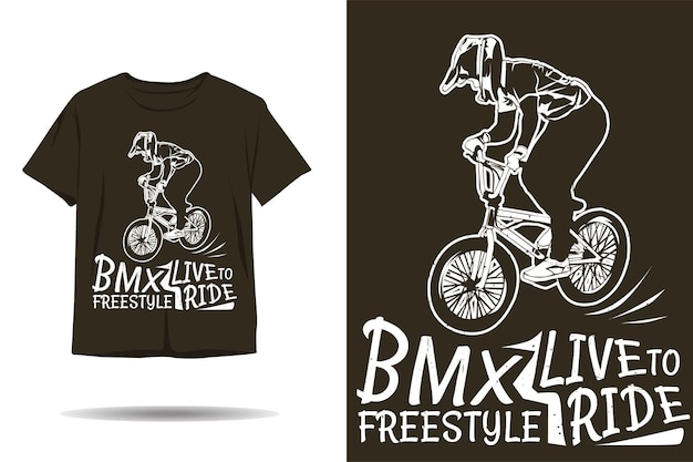Life to ride bike freestyle silhouette t-shirt design