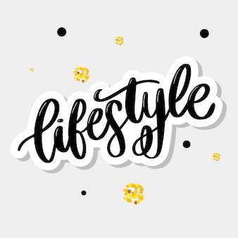 Lifestyle-schriftzug