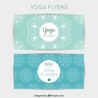 Light blue yoga flyer
