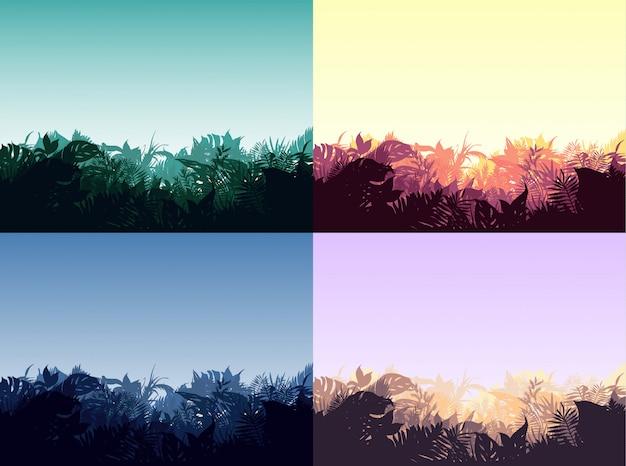 Light jungle landscapes collection