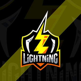 Lightning badge logo vorlage design