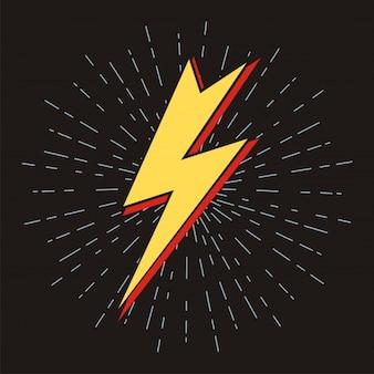 Lightning flache symbole blitz zeichen