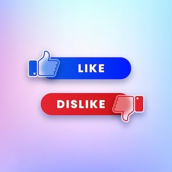 Like- und dislike-buttons