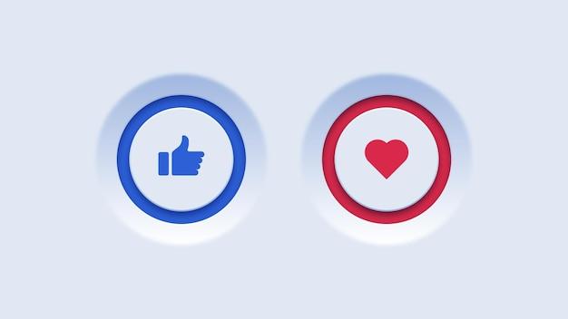 Like- und favoriten-buttons