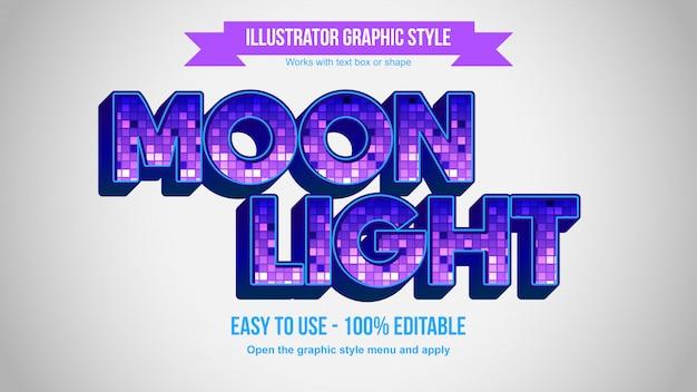 Lila 3d bold disco ball pattern bearbeitbarer texteffekt