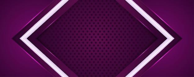 Lila 3d mit überlappung papierhintergrund