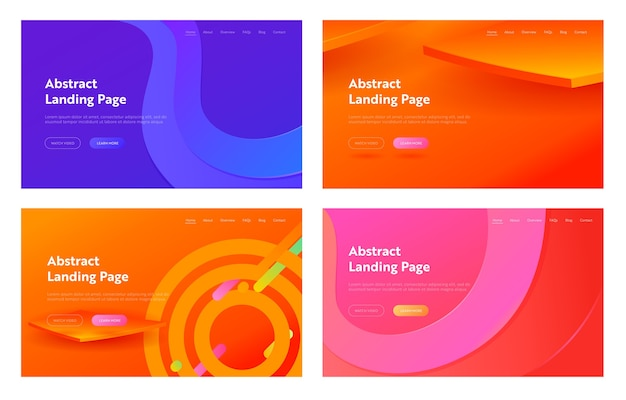 Lila abstrakte geometrische sechskantform landing page hintergrund. futuristisches digitales bewegungsgradientenmuster.