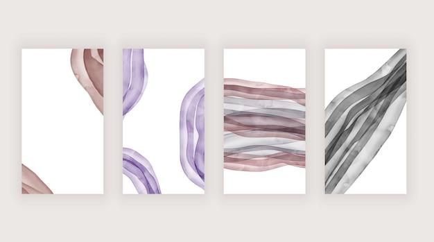 Lila aquarellbeschaffenheit für social-media-geschichten