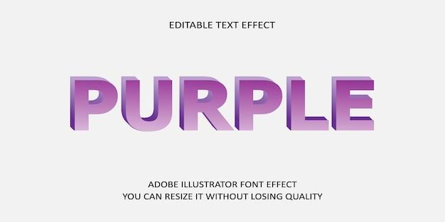 Lila bearbeitbarer text effekt