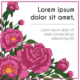 Lila Blumen Hintergrund Vorlage