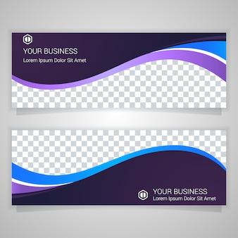 Lila business banner vorlage