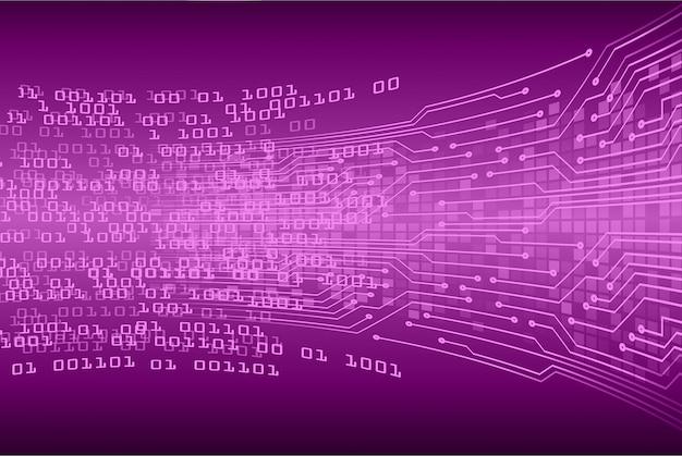 Lila cyber circuit zukunftstechnologie konzept hintergrund