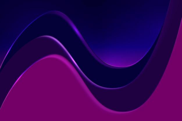 Lila desktop-hintergrund, abstrakter wellendesign-vektor