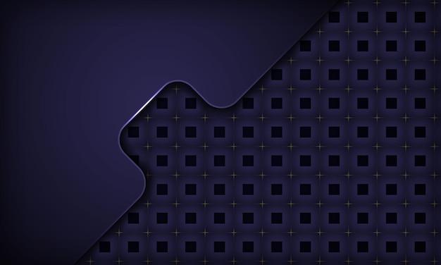Lila dynamischer hintergrund im abstrakten papierstil mit metallic-effekt und quadratischem muster
