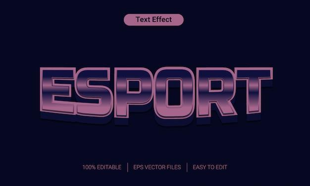 Lila esport editierbar textstil-effekt ersetzen