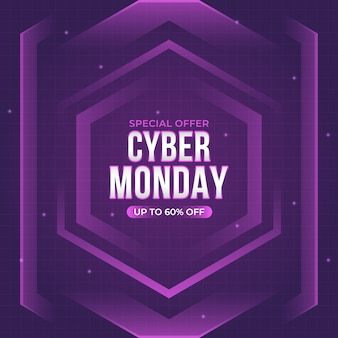 Lila futuristisch cyber montag