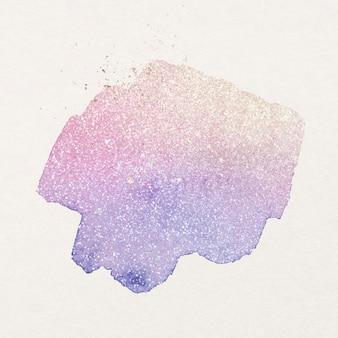 Lila glitzeraufkleber aquarell grafik vektor