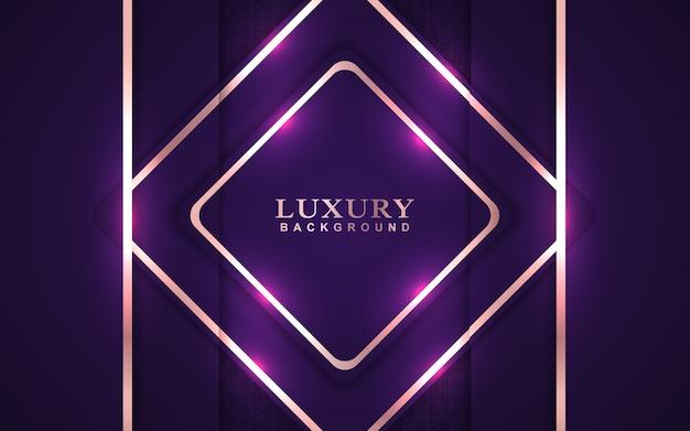 Lila hintergrund des luxus mit goldener dekoration