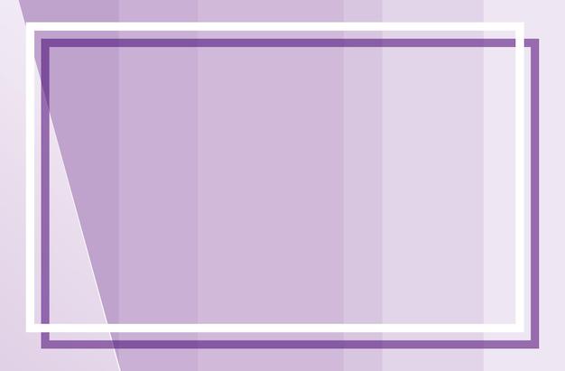 Lila hintergrund mit quadratischem rahmen