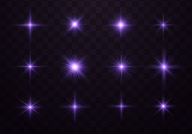 Lila leuchtendes licht. blau und violett leuchtender effekt.