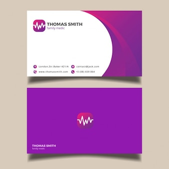 Lila medizinische visitenkarte