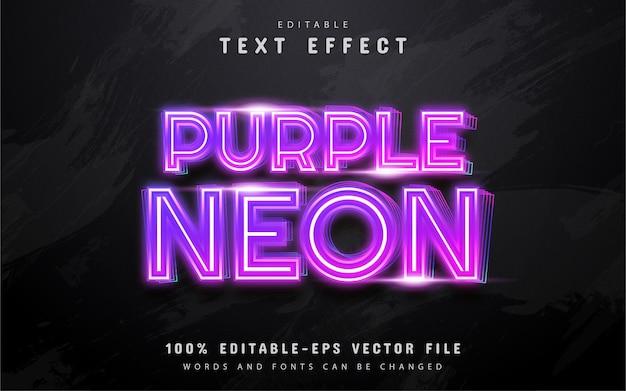 Lila neon-texteffekt