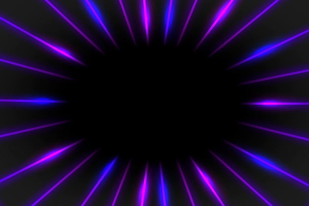Lila neonrahmen auf einem dunklen hintergrund