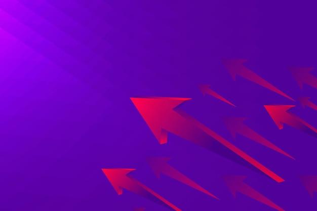 Lila pfeilhintergrund, moderne grenze, technologiekonzeptvektor
