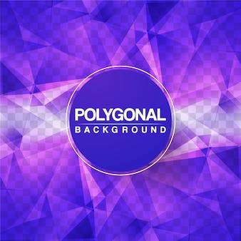 Lila polygonaler hintergrundentwurf