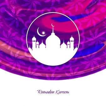 Lila ramadan kareem hintergrund-design