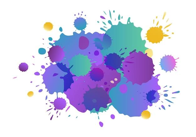 Lila rosa gelb vektor aquarell hintergrund aquarell spritzer auf strukturiertem hintergrund wasser