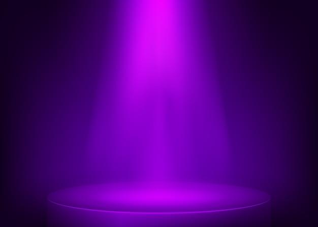 Lila szene beleuchtet scheinwerfer