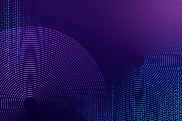 Lila technologiehintergrund des geometrischen musters mit kreisen