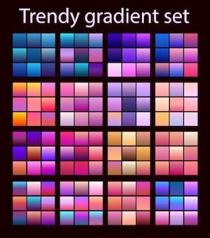 Lila trendiges set ultraviolett