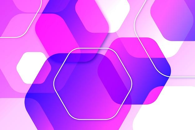 Lila überlappende formen hintergrund