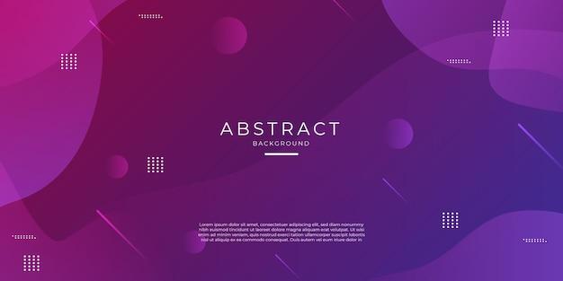 Lila und rosa farbverlauf geometrischer formhintergrund