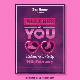 Lila valentine flyer design
