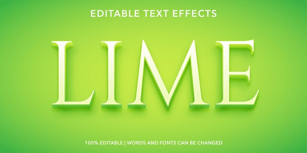 Lime editable text effect
