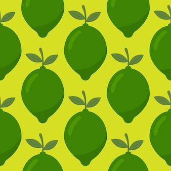 Lime nahtloses vektormuster