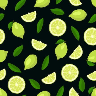 Limes nahtlose muster