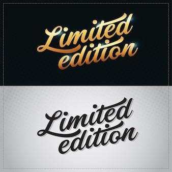 Limitierte auflage vektor gold premium hand schriftzug