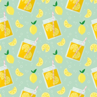 Limonade nahtlose muster