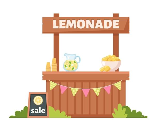 Limonadenstand sommer kaltgetränk Premium Vektoren