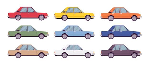 Limousine in leuchtenden farben