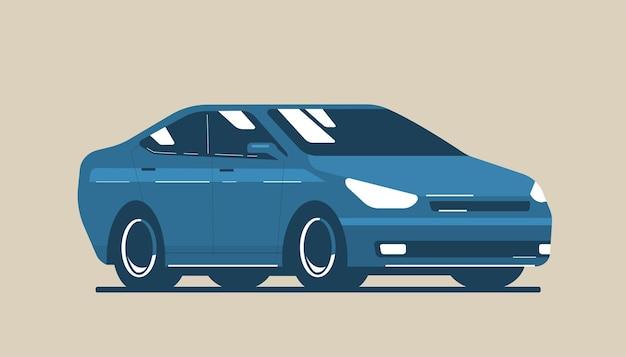 Limousine isoliert. vektorgrafik im flachen stil