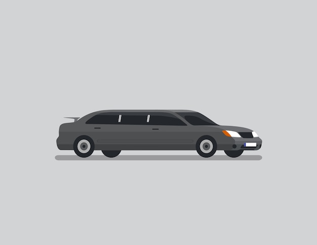 Limousine-limousinen-flacher vektor