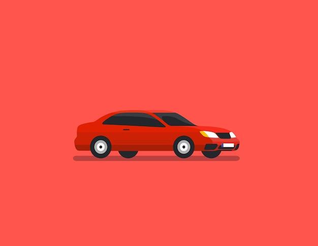 Limousine roter flacher vektor