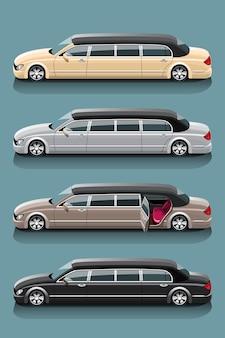Limousinen-taxi-set für besondere fahrgäste