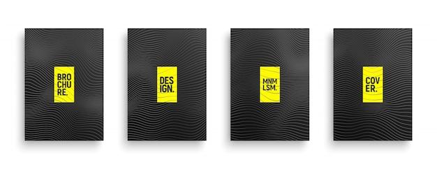 Line art broschüre vorlagen set