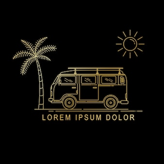 Line art van design